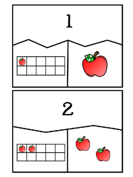 Apple Number Puzzles with Ten Frames