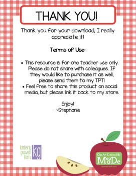 Apple Number Recognition Activity 1-10