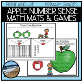 Apple Number Sense Activites and Dice Games