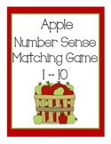 Apple Number Sense Matching Game 1-10
