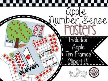 Apple Number Sense Posters