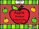 Apple Number Sequencing Math Center (Numbers 1-50)