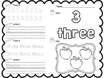 Apple Number Sheets