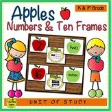 Apple Number, Ten Frame & Number Word Match