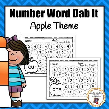 Apple Number Word Dab It