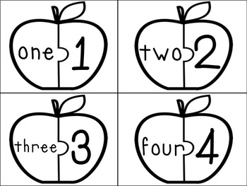 Apple Number Words Puzzles