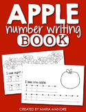Apple Number Writing Book Freebie
