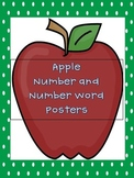 Apple Number and Number Word Posters