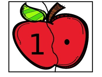 Apple Number and Set Matching Game
