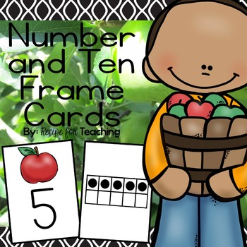 Apple Number and Ten Frame Cards