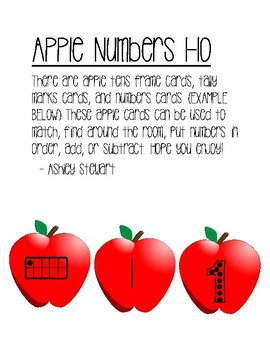 Apple Numbers 1-10 Game
