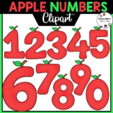 Apple Numbers Clipart 0-9