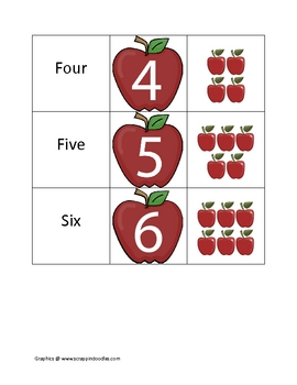 Apple Numbers Matching Game