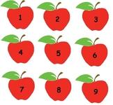 Apple Numbers  (numbers 1-20)