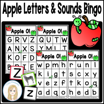 Apple O!: Apple Letters and Sounds Bingo Game