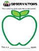 Apple Observations Book,  Inquiry Activity experimentand Life Cycle cut & paste