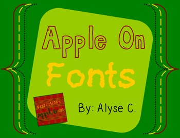 Apple On Font Pack