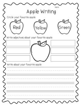 Apple Opinion Writing// Apple Activity// Fall Activity