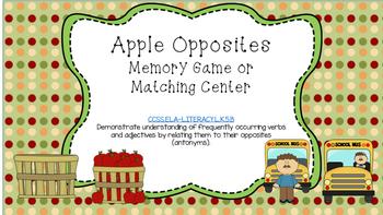 Apple Opposites Center Game