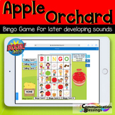 Apple Orchard Articulation Boom Cards Bingo Game for Later