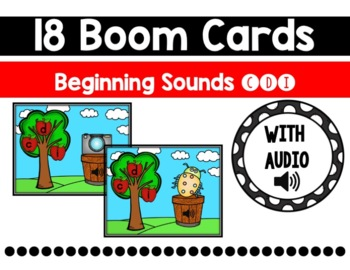Apple Orchard Beginning Sounds Boom Cards {C, D, I}