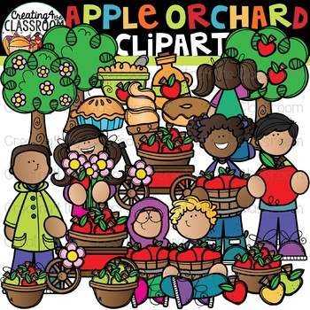 Apple Orchard Clipart {Fall Clipart}