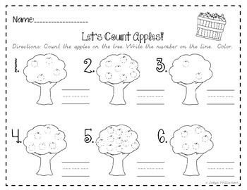 Apple Orchard Fun-Math Worksheet Fun