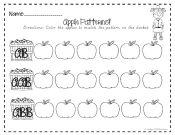 Apple Orchard Math Worksheet Freebie