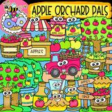 Apple Orchard Pals: Fall Clipart {DobiBee Designs}