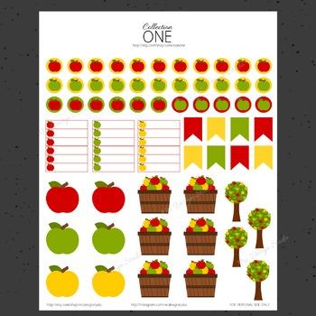 Apple Orchard Planner Stickers - Printable Planner Stickers, Teacher