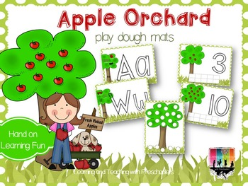 Apple Orchard Play Dough Mats