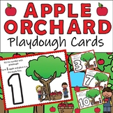Apple Orchard Playdough Cards with Apple Spice Playdough Recipe