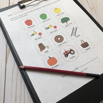 Apple Orchard Scavenger Hunt with Visuals
