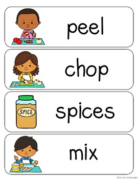 Apple Orchard Vocabulary Word Wall Cards plus Write & Wipe Version