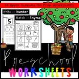 Preschool Apple Orchard Worksheets