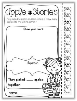 Apple Packet – First Grade {No PREP}