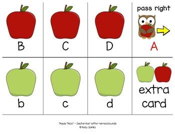 Apple Pass - A Phonics Card Game (letters and cvc bundle)