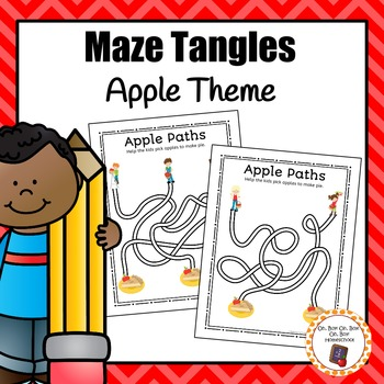 Apple Path Maze Tangles