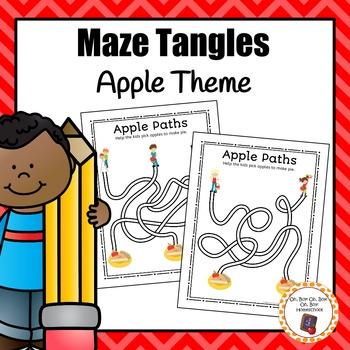 Apple Path Maze Tangles