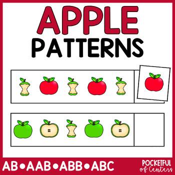 Apple Pattern Cards {AB, ABC, ABB, AAB}