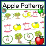 Apple Math Center with AB, ABC, AAB & ABB Patterns