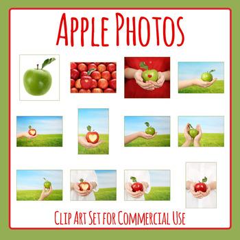 Apple Photos - Fresh Apples Photographs Clip Art Set for C