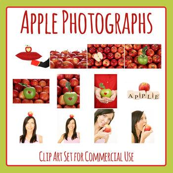 Apple Photos - Fruit Photograph Clip Art Set for Commercial use