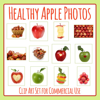 Apple Photos / Photographic Clip Art Set for Commercial Use
