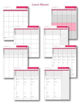 Teacher Planner 2017-2018 Pink and Purple Theme