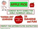 """Kindergarten Math Games Using Dominoes: """"Hands-On"""" Fun"""