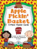 Number Counting Puzzle Cards for 0-20 with Apples