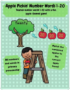 Apple Pickin' Number Words Teach Number Words With A Fun Fall Theme Math Center