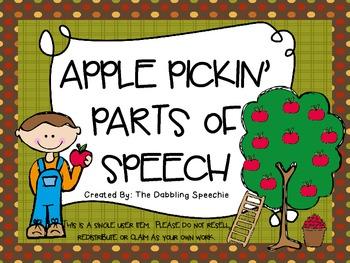 Apple Pickin' Parts of Speech