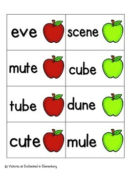 Apple Pickin' Phonics: Silent E Words Pack